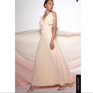 NWT Cream Maxi Dress 👗